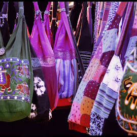 Colorful cotton Bags by Prasanta Das - Artistic Objects Clothing & Accessories ( colorful, cotton., bags )