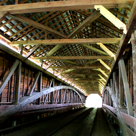 Covered Bridge by Leah Zisserson - Buildings & Architecture Bridges & Suspended Structures ( patterns, wood, frames, road, bridge )