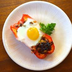 Egg with Sausage-Stuffed Peppers