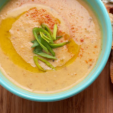 Roasted Potato Leek & Beer Soup with Blue Cheese Toasts