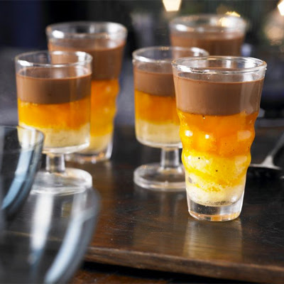 Chocolate Jaffa pots