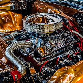 engine by Fred Faulkner - Transportation Automobiles ( lowrider, car, engine, automobile, hotrod, chicago, chevy,  )