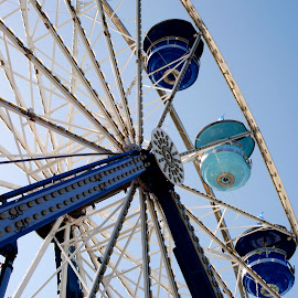 NC State Fair Ferris Wheel by David Roe - News & Events Entertainment ( curve, old, travel, architecture, artwork, turning, spokes, north carolina, aged, love, grunge, sky, spinning, nc state fair, metal, fairground, family, pink, motion, david roe photography, worn, texture, wallpaper, art, leisure, fun, north carolina state fair, fair, holiday, recreational, turquoise, mother, outdoors, cardboard, shabby, day, big, antique, ride, excitement, david roe, wheel, decorative, paper, joy, vivid, circle, state fair, midway, carousel, seats, festival, activity, abstract, clouds, ferris, anniversary, park, vintage, carnival, traditional, vacations, relaxation, enjoy, photo, raleigh, entertainment, scratched, red, blue, nc, amusement, color, wedding, outdoor, background, book, artistic, summer, circus,  )