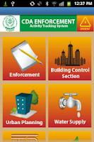 Screenshot of CDA Tracking System