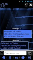 Screenshot of GO SMS Blue Tron Theme