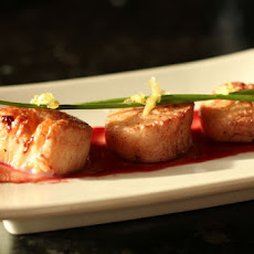 Pomegranate Infused Scallops w/ Citrus Pomegranate Sauce