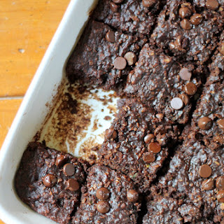 Flourless Chocolate Chip Zucchini Oat Brownies