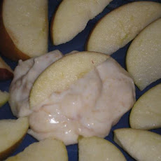 White Chocolate Peanut Butter Apple Dip for 1