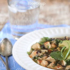 Salsa Verde Chicken and Wild Rice Soup