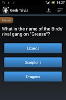 Screenshot of Geek Trivia