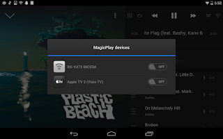 Screenshot of AirSync iTunes Sync, AirPlay