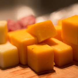 Cheese Tray by Angie Dutton - Food & Drink Meats & Cheeses ( food, cubes, cheese, yellow, appetizer )