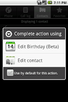 Screenshot of Edit Birthday (Beta)