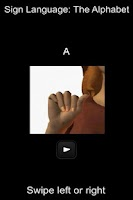 Screenshot of Sign Language Alphabet
