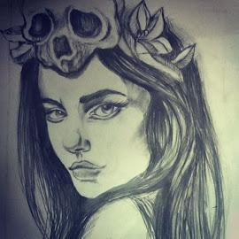 Skeleton girl #rough_sketch ヅ by Sayantani Roy - Drawing All Drawing