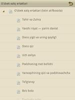 Screenshot of O'zbek xalq ertaklari