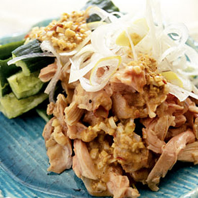 Steamed Chicken Salad with Sesame Sauce