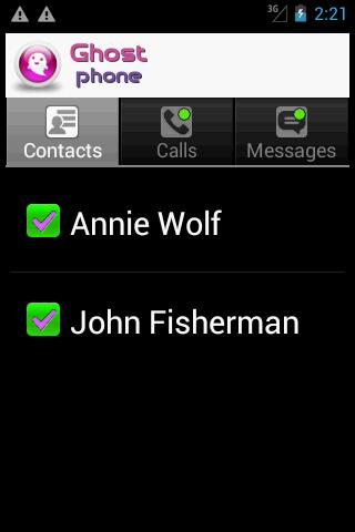 Ghost Phone - screenshot