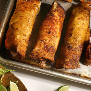 Crispy Turkey Enchiladas