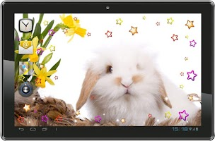 Screenshot of Bunny n Flowers live wallpaper
