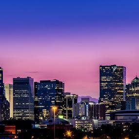 Charlotte at Dusk by RomanDA Photography - City,  Street & Park  Skylines ( skyline, carolina, nc, charlotte, north, dusk, city, Urban, City, Lifestyle )