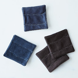 Ripple Stitch Felt Coasters (Set of 4)
