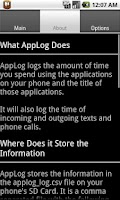 Screenshot of AppLog