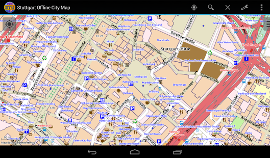 app stuttgart offline city map apk for windows phone android games and apps. Black Bedroom Furniture Sets. Home Design Ideas