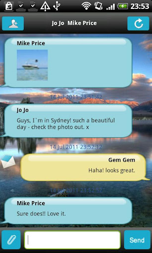 yak-messenger for android screenshot
