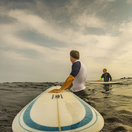 by Justin Brady - Sports & Fitness Surfing ( surfing, waves, summer, ocean, longboard, nh, surf, rye,  )