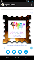 Screenshot of Uganda Radio