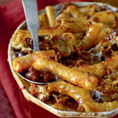 Baked Ziti with Spicy Pork and Sausage Ragù