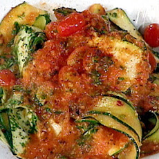 Zucchini Pappardelle with Fine Herbs and Tomato