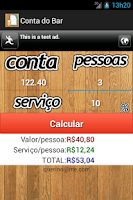 Screenshot of Conta do Bar
