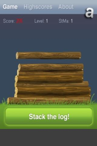 Stack the log