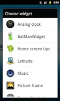 Screenshot of BatManWidget