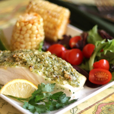 Baked Halibut With Sour Cream, Parmesan, And Dill Topping ...