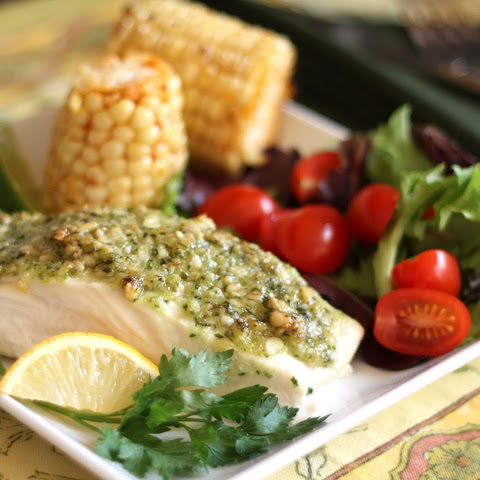 Halibut With Nut Crust And Apple Vinaigrette Recipes — Dishmaps