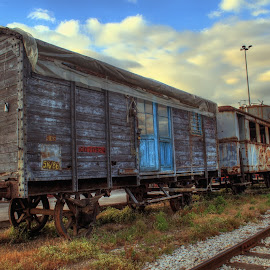 Abandoned yet still beautiful ... by Emil Athanasiou - Transportation Trains ( greece, wagon, train, trains )