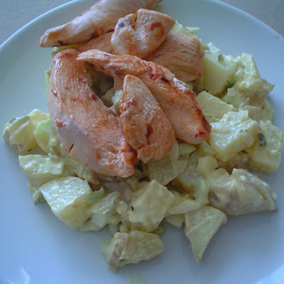 Marinated Chicken with Potato Salad