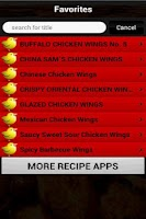 Screenshot of ChickenWings Recipes Cookbook