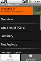 Screenshot of As You Like It: Shmoop Guide