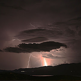 Lightning by Andreas Loukakis - Landscapes Weather ( lightning, thunderstorm, crete,  )
