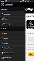 Screenshot of giffgaff app