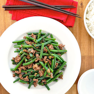 Stir Fried Green Beans with Minced Pork