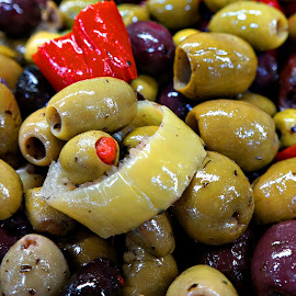 Olives In Oil by Mill Tal - Food & Drink Plated Food