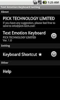 Screenshot of Text Emotion Keyboard