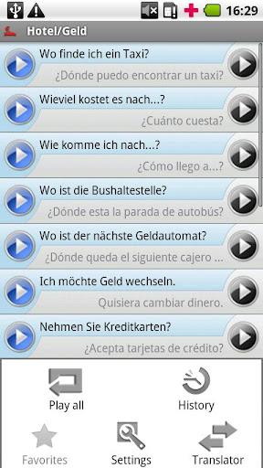 iSayHello 德语 - 西班牙语