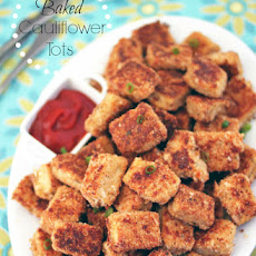 Baked Parmesan Garlic Cauliflower Tots