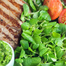 Fillet Steak With Watercress Pesto